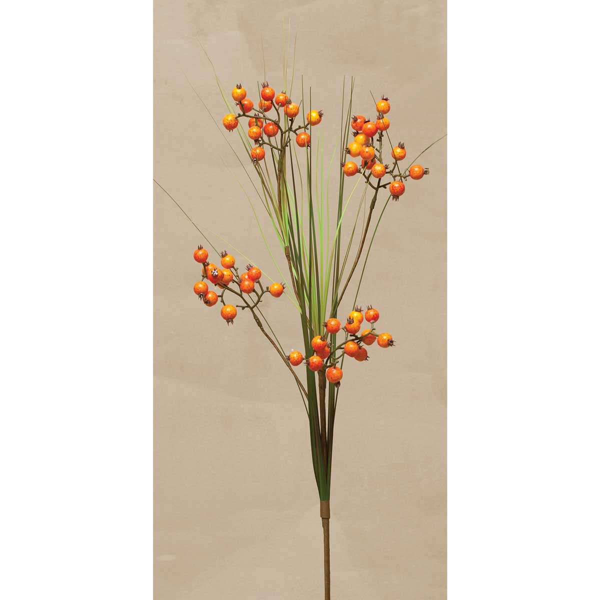 "GRASS BERRY SPRAY X3 34"" ORANGE"